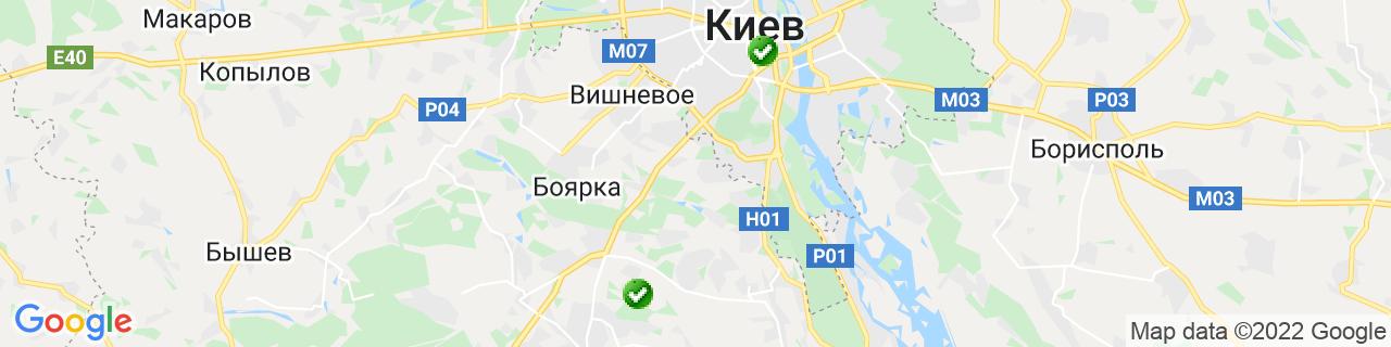 Карта об'єктів компанії КиївПласт