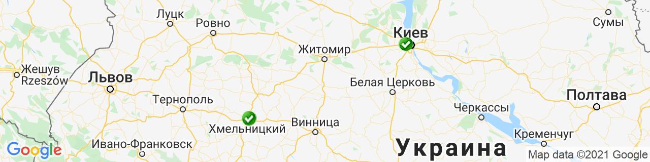 Карта об'єктів компанії КІЛАН, салон