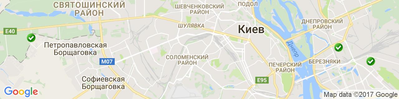 Карта объектов компании Окна Дизайн