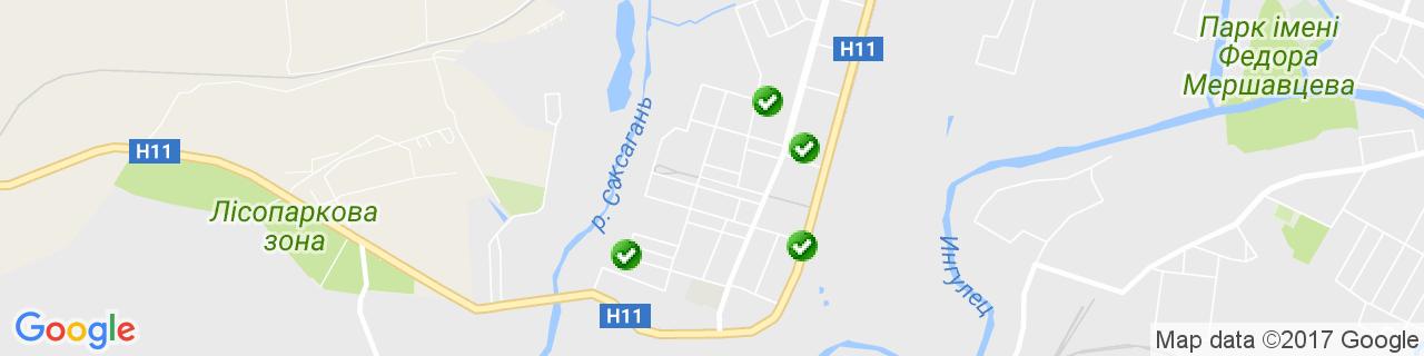 Карта объектов компании КОМФОРТ