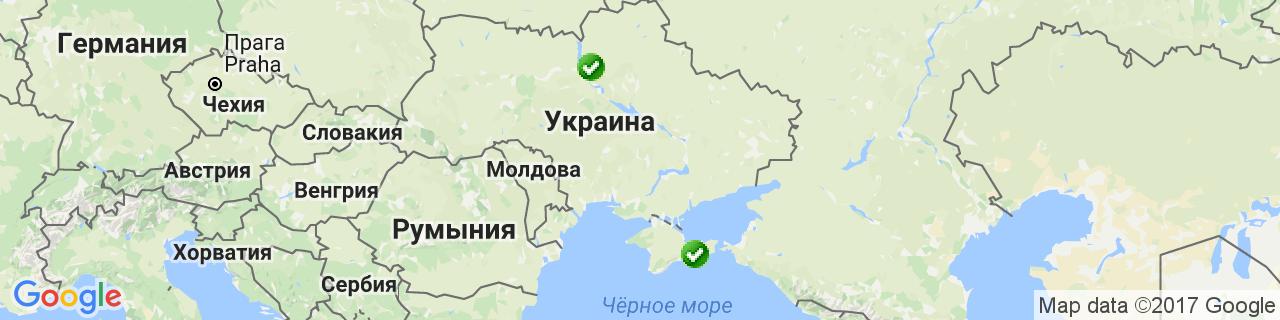 Карта объектов компании Коцюба В.Н.