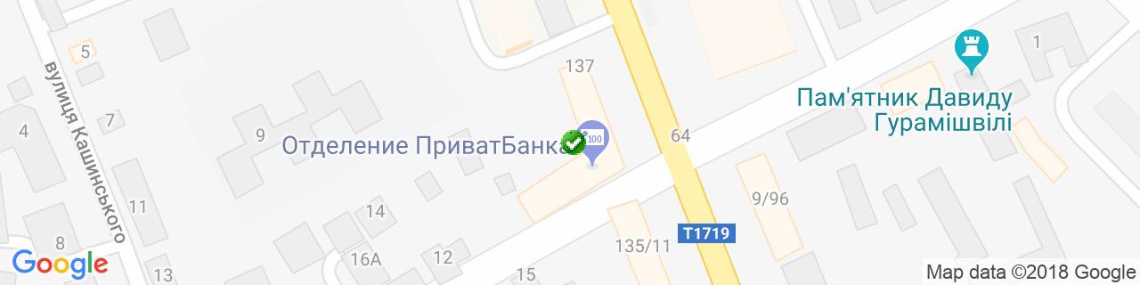 Карта объектов компании КРАЕР