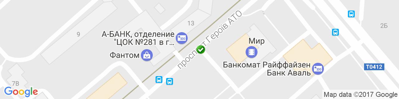 Карта объектов компании Крайник Ю.И.