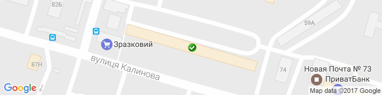 Карта об'єктів компанії Кравчук С.А.