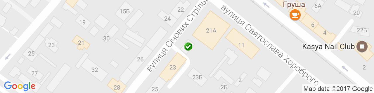 Карта об'єктів компанії Кронк Буд