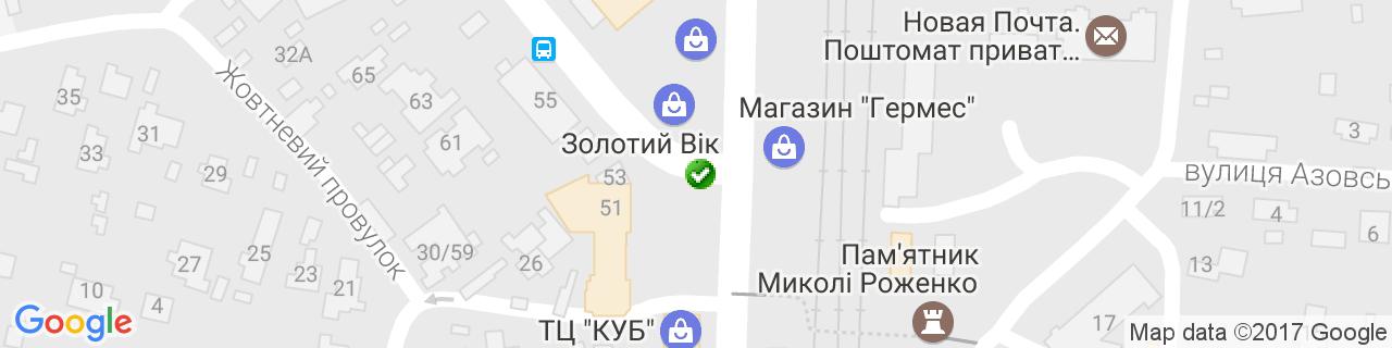 Карта объектов компании Рыбаченко А.В.