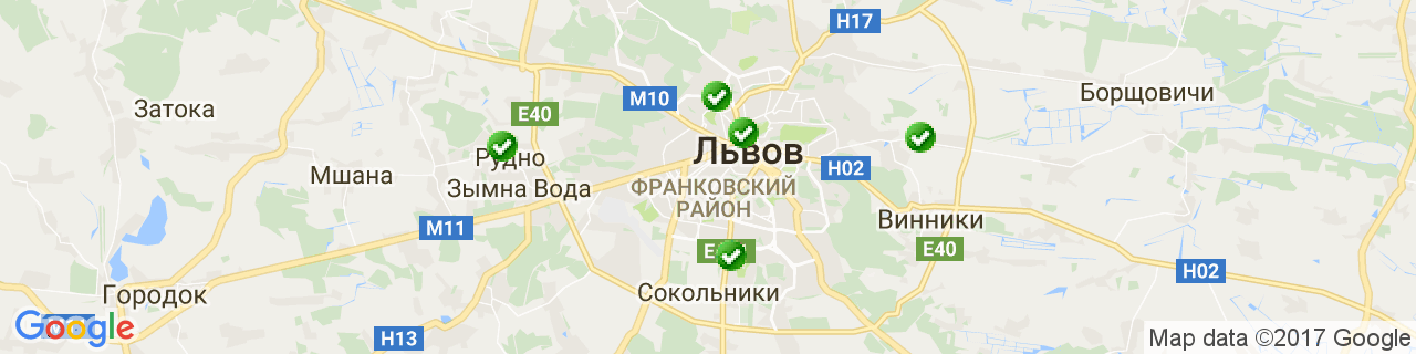 Карта об'єктів компанії Левицький В.О.