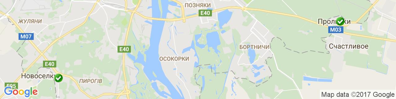 Карта объектов компании Ловекс-К