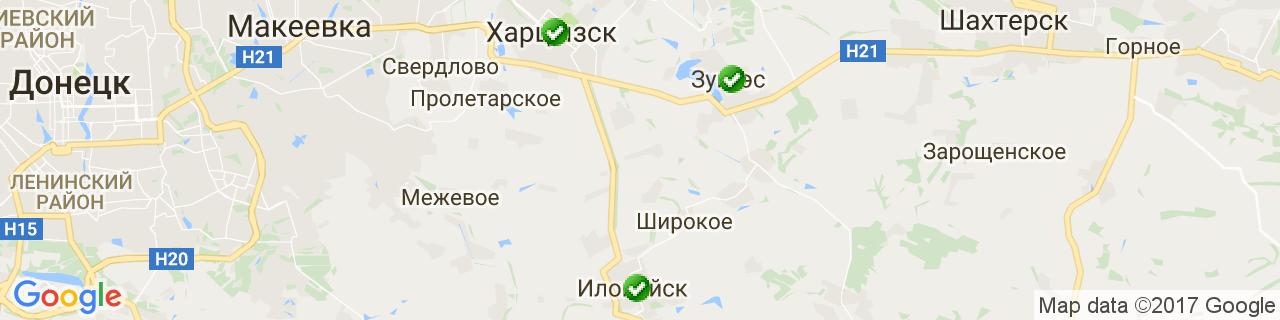 Карта объектов компании Мастер Класс