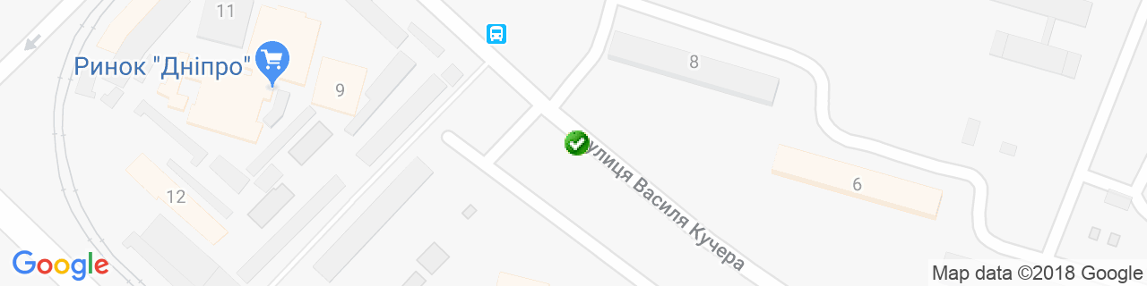 Карта объектов компании Матвиив Ю.Н.