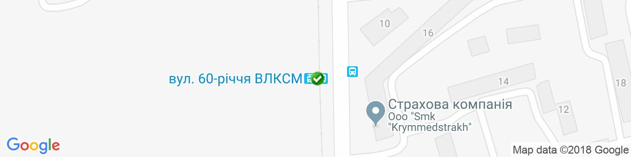 Карта об'єктів компанії Maximus