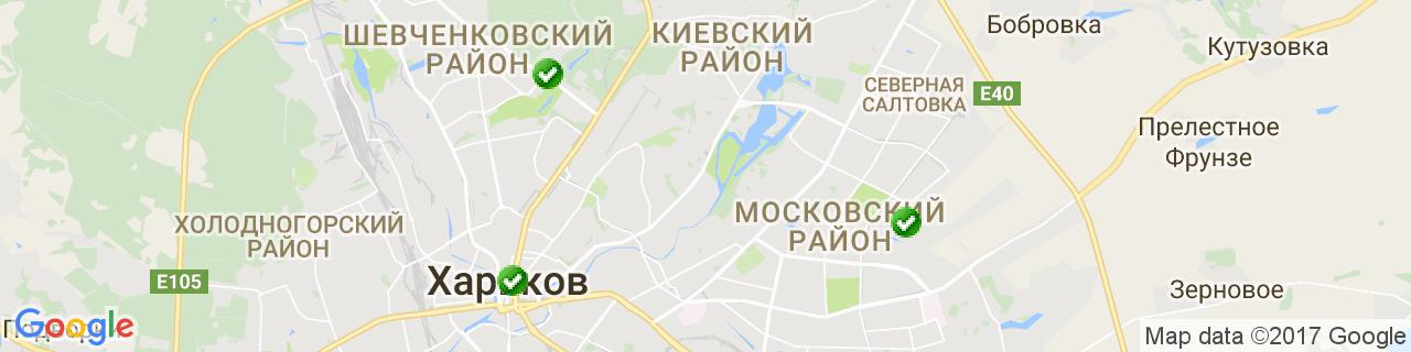 Карта объектов компании MEO
