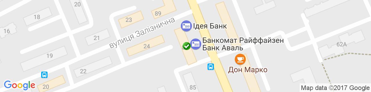 Карта об'єктів компанії VIKRA