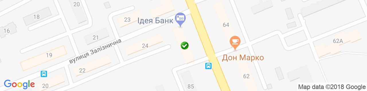 Карта объектов компании VIKRA