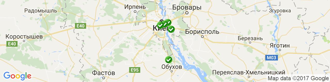 Карта объектов компании МПК