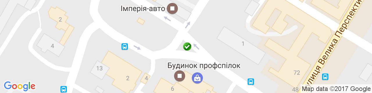 Карта объектов компании Н.В. Плюс