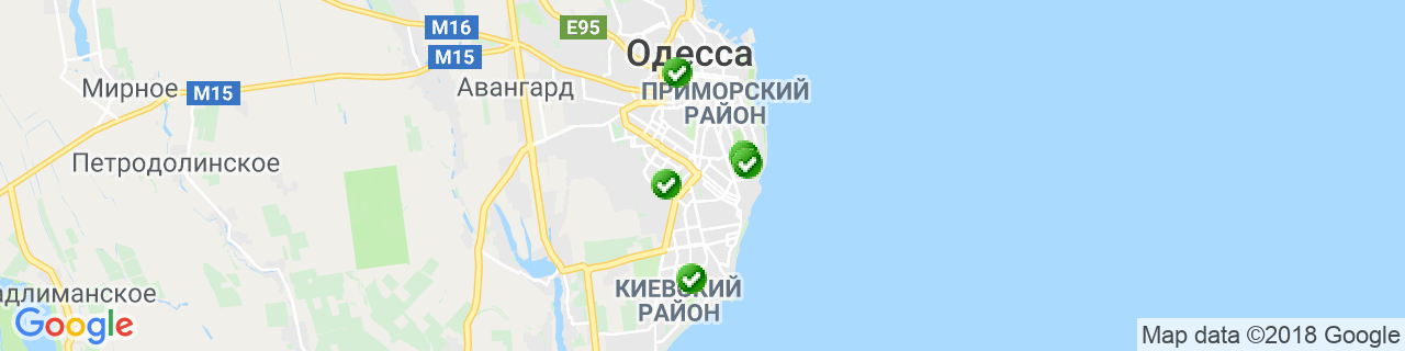 Карта объектов компании Одесса Пласт