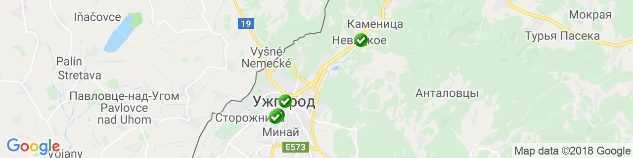 Карта объектов компании ODK-Eurolux