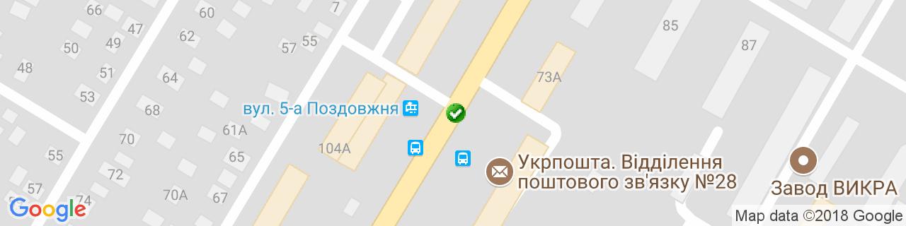 Карта об'єктів компанії Віконний Дворик