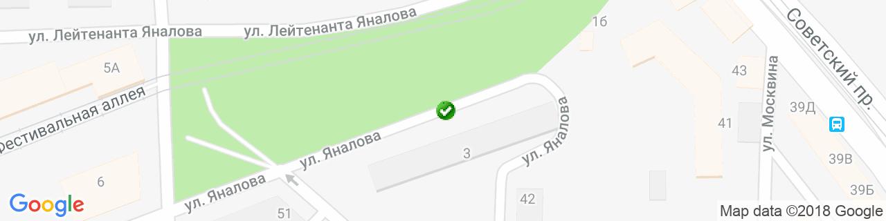 Карта объектов компании Окна на Отлично