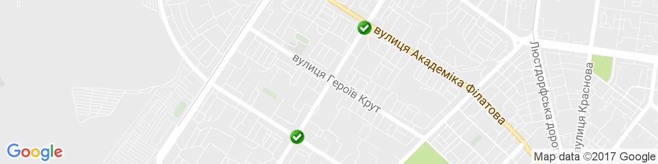 Карта объектов компании Окна Свит