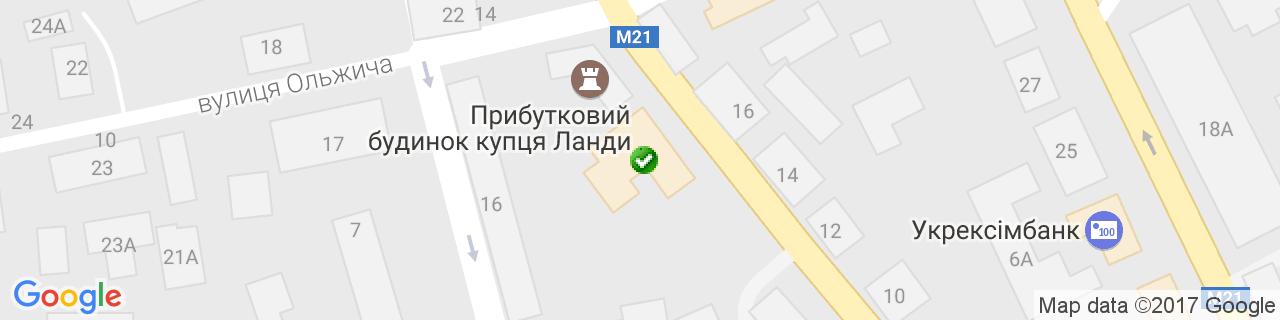 Карта объектов компании Вікна Плюс zt