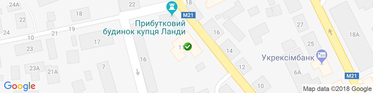 Карта об'єктів компанії Вікна Плюс zt