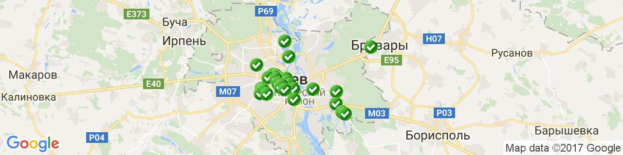 Карта объектов компании ОкнаПроект