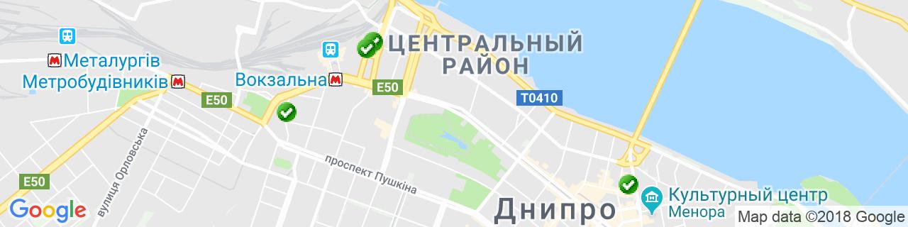 Карта объектов компании ОКНО