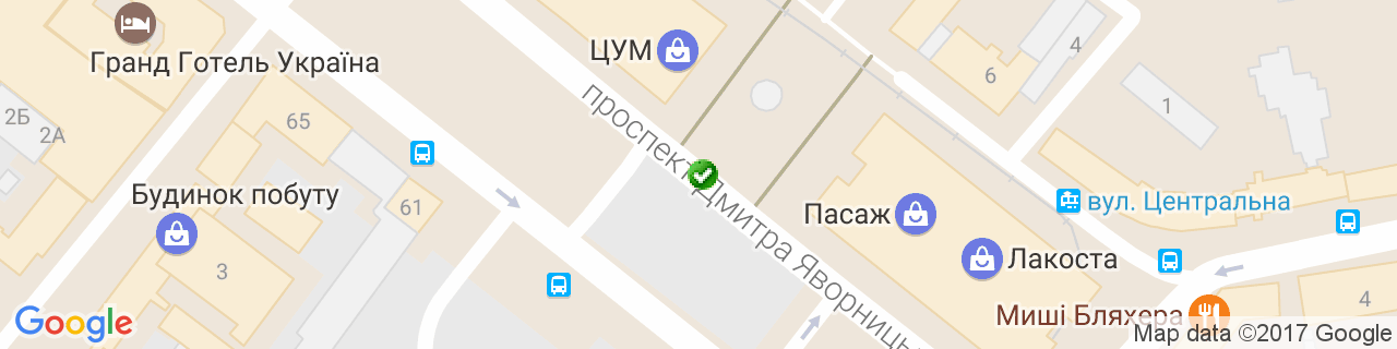 Карта объектов компании Окнолия