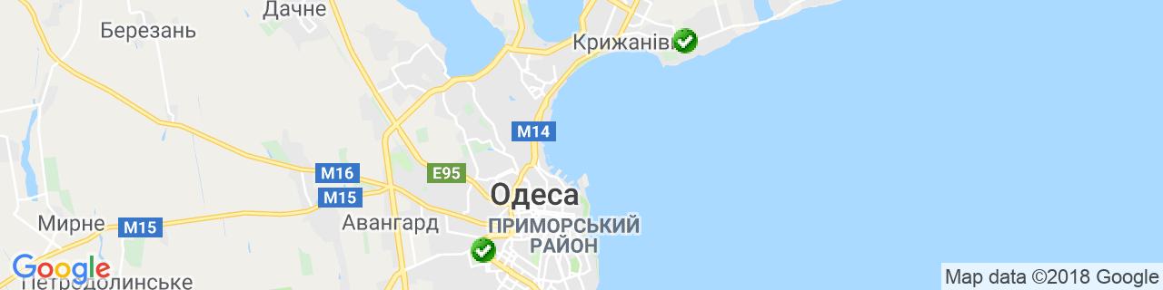 Карта об'єктів компанії РемонтОкон