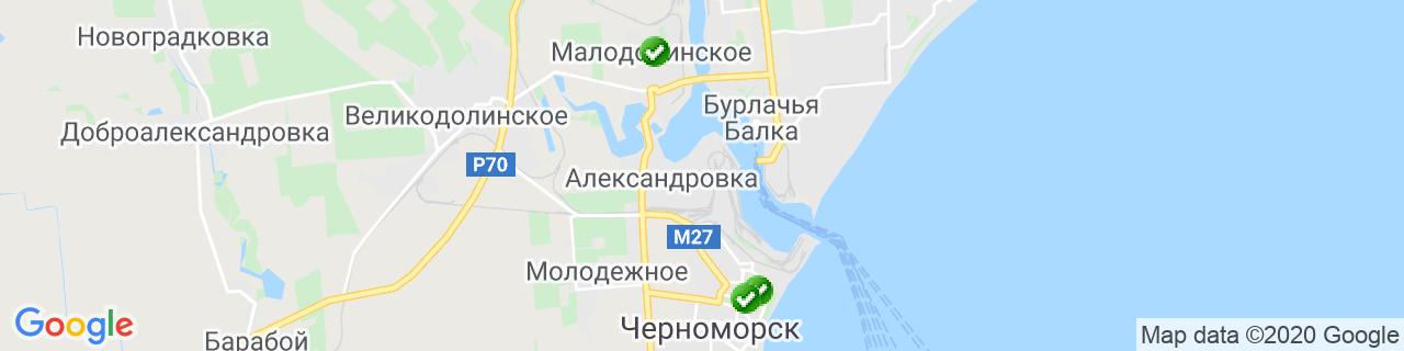 Карта объектов компании Штембуляк М.А.