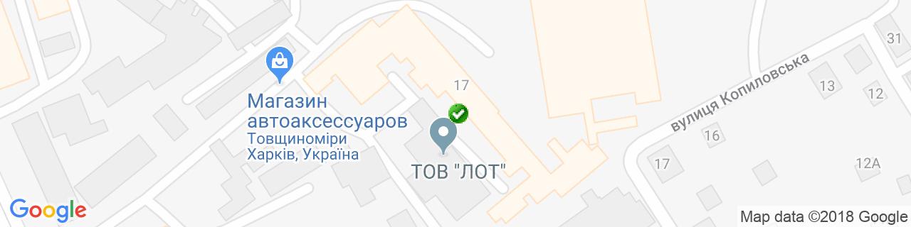 Карта объектов компании Parapet Украина