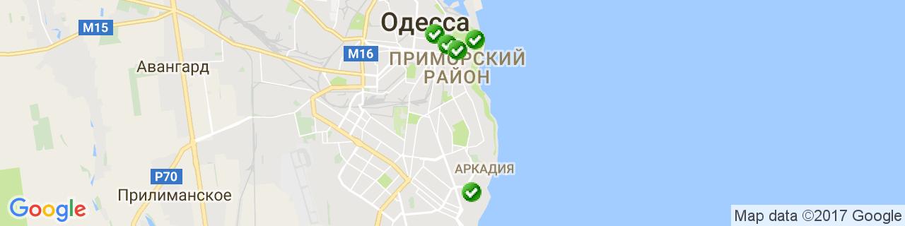 Карта об'єктів компанії ПАРИТЕТ