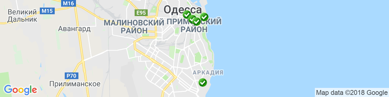 Карта объектов компании ПАРИТЕТ