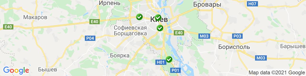 Карта объектов компании ПК Партнер