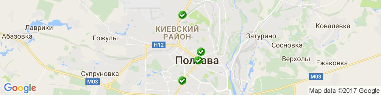 Карта объектов компании Полтава-Интерм