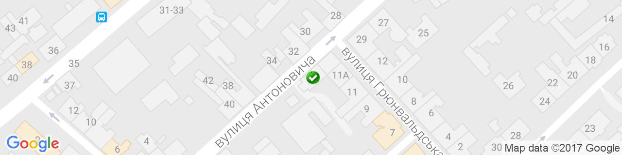 Карта объектов компании П&П Реставрация