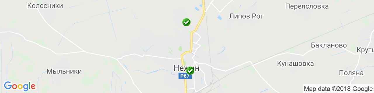 Карта объектов компании Прокопенко В.О.
