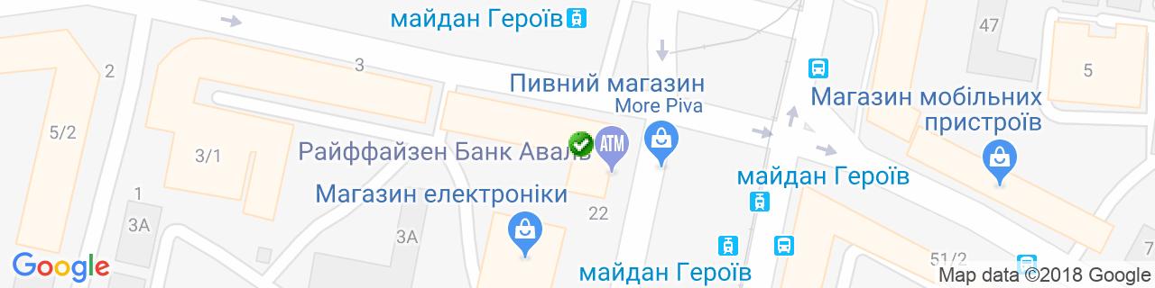 Карта об'єктів компанії Чуботенко Р.С.