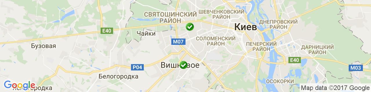 Карта объектов компании GL