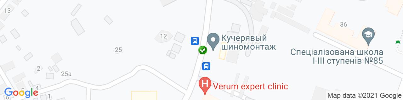 Карта объектов компании Рідня ТМ