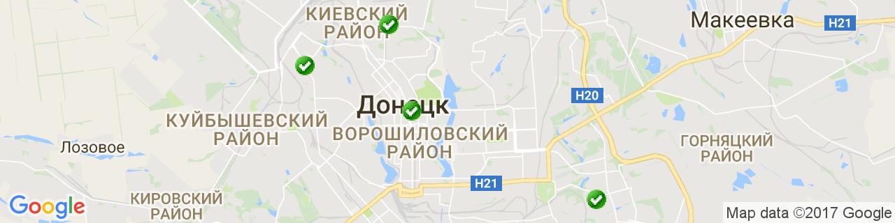 Карта объектов компании Роллет-Сервис