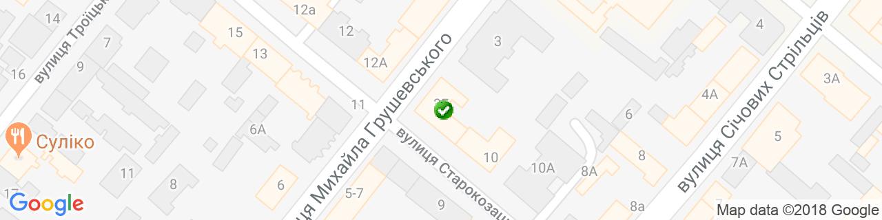 Карта об'єктів компанії Сайва