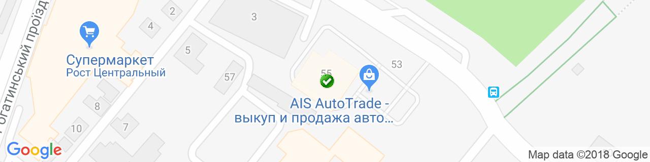 Карта объектов компании Фирма Сакти