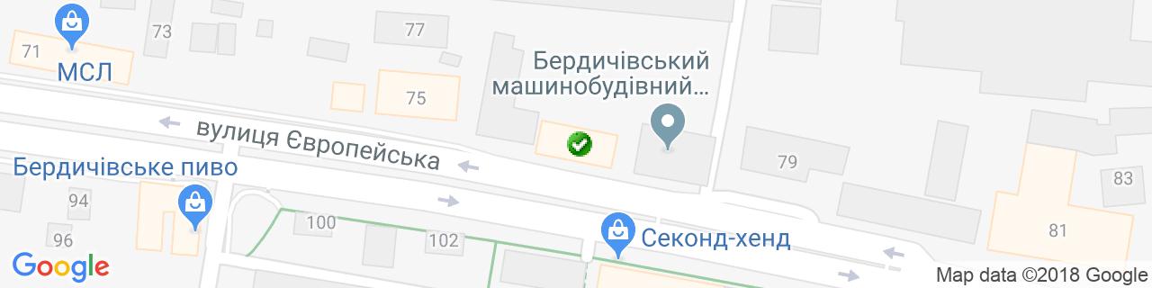 Карта об'єктів компанії Саме Те