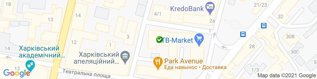 Карта объектов компании СОЛОДКОВСКИЙ И К