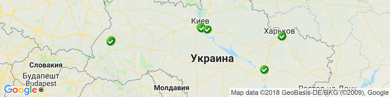 Карта объектов компании Завод Steko