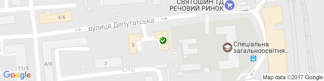 Карта объектов компании Сендецкий