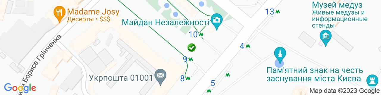 Карта об'єктів компанії СТРОЙСЕРВИС